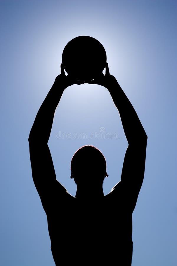 Silhouette de joueur de basket image libre de droits