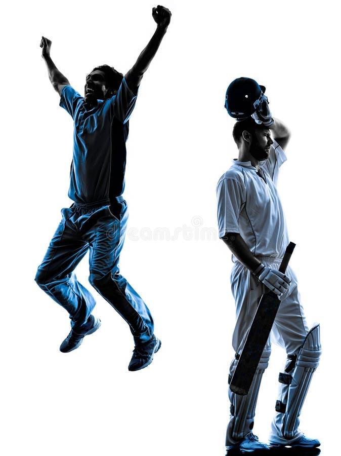 Silhouette de joueur de cricket photo libre de droits