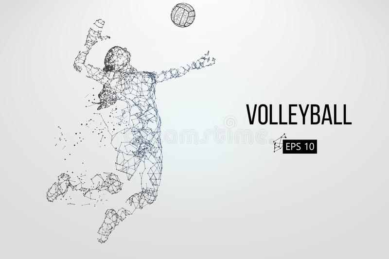Silhouette de joueur de volleyball Illustration de vecteur