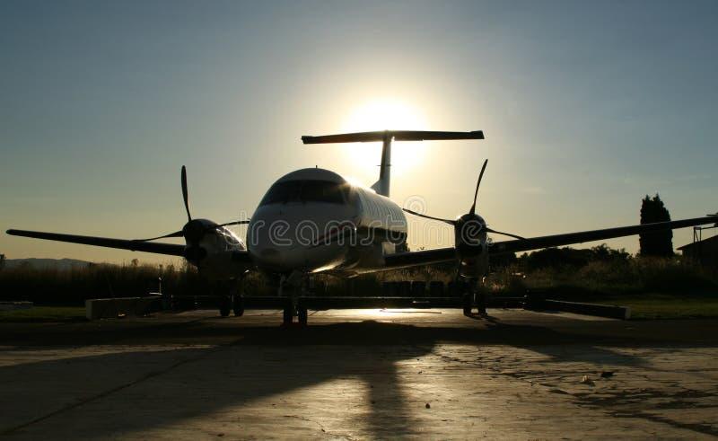 Silhouette de Kingair photographie stock libre de droits