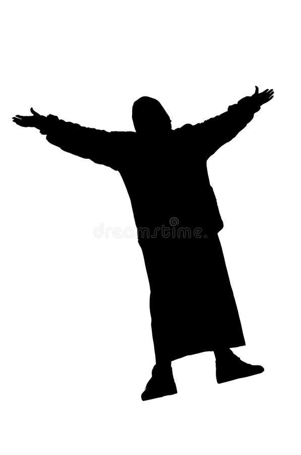 Silhouette de la femme illustration libre de droits