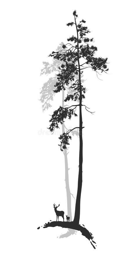 Silhouette de la forêt illustration libre de droits