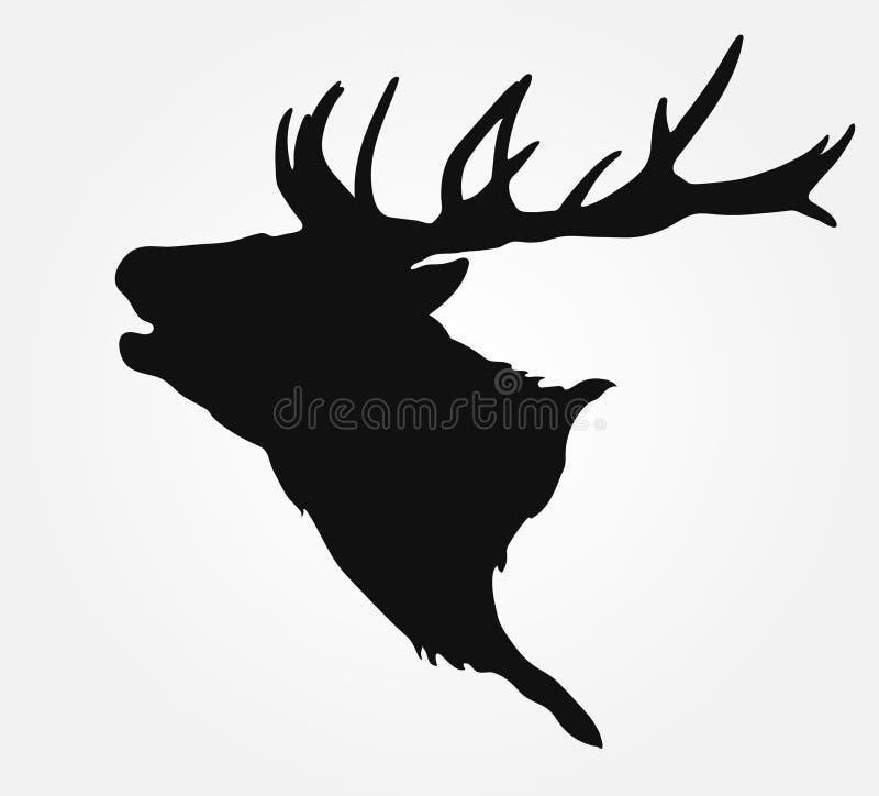 Silhouette de la tête du ` s de mâle illustration stock