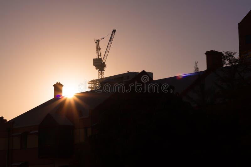 Silhouette de lever de soleil de ville de Perth photos libres de droits