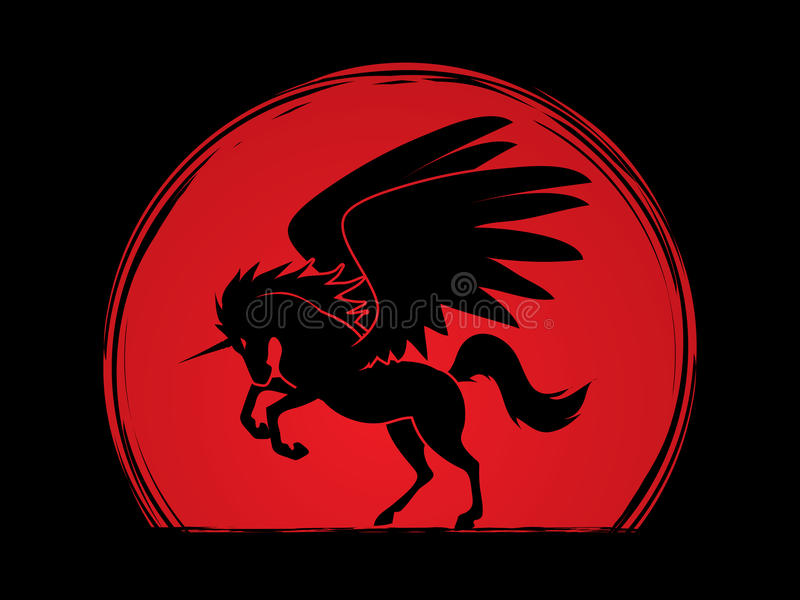 Download Silhouette De Licorne De Mouche Illustration de Vecteur - Illustration du élément, fond: 87702511