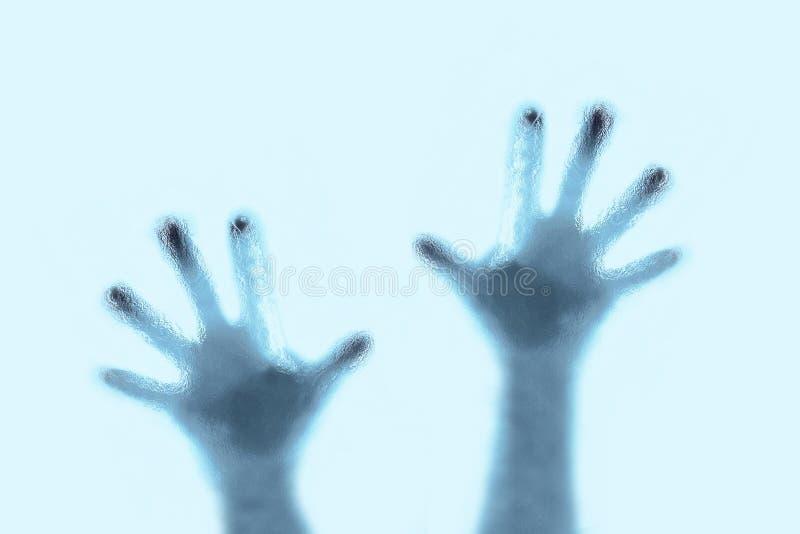 Silhouette de mains photo stock