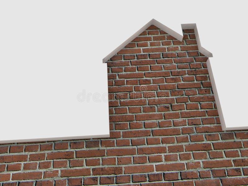 Silhouette de maison de brique illustration de vecteur