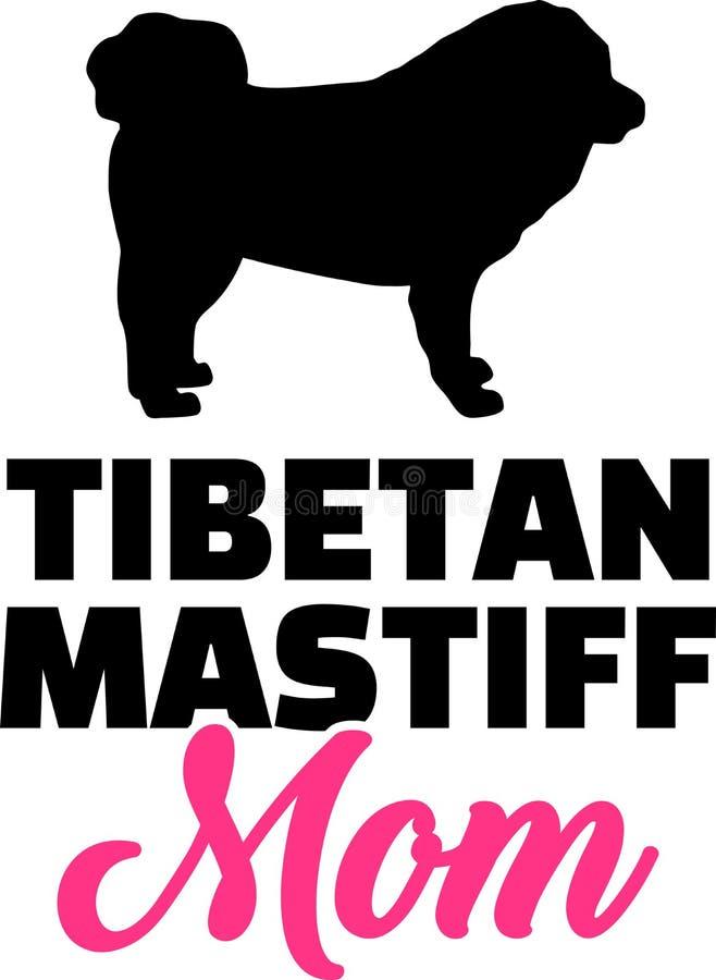 Silhouette de maman de mastiff tibétain illustration libre de droits