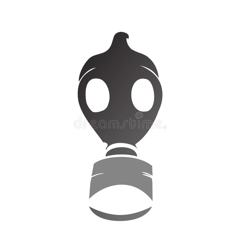 silhouette de masque de gaz de vecteur illustration de. Black Bedroom Furniture Sets. Home Design Ideas
