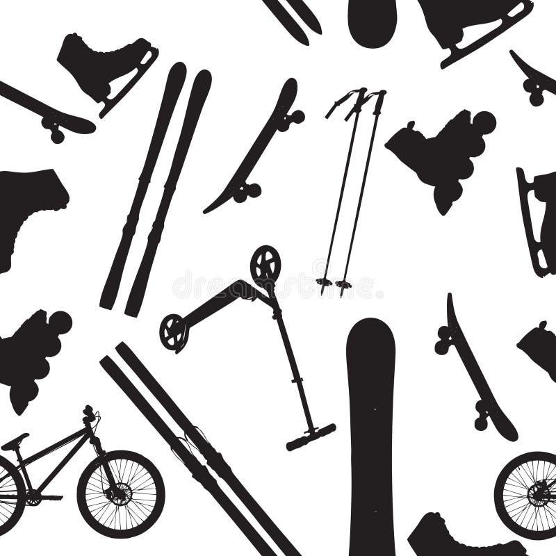 Silhouette de matériel de sports   illustration libre de droits