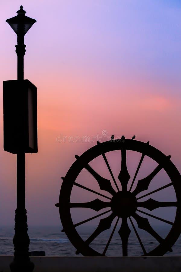 Silhouette de matin photographie stock