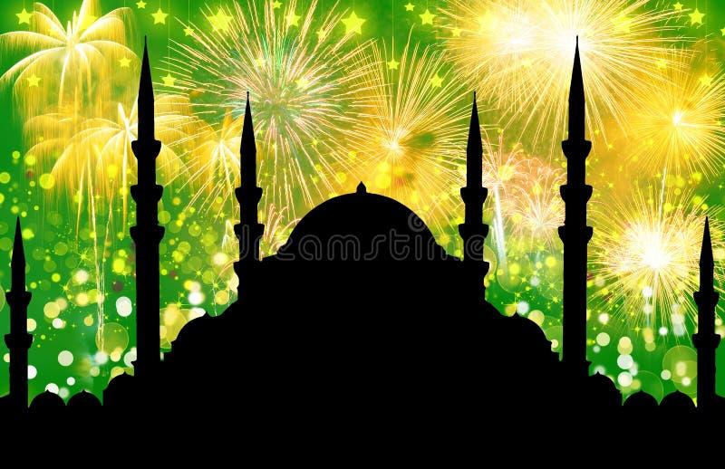 Silhouette de mosquée photo libre de droits