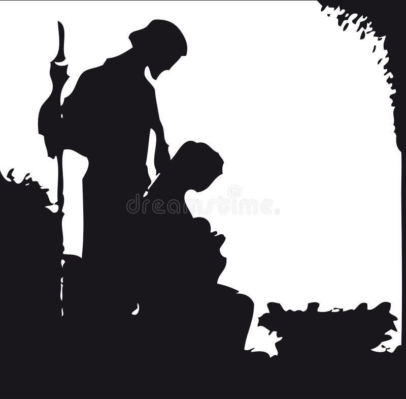 Silhouette de nativité illustration de vecteur
