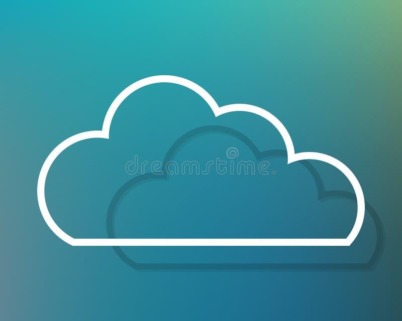Silhouette de nuage avec la profondeur illustration libre de droits