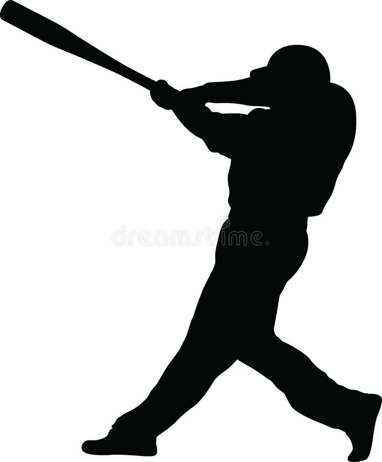 Silhouette de pâte lisse de base-ball illustration libre de droits