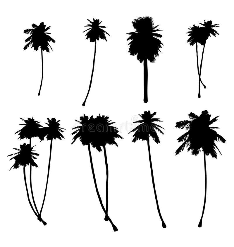 Silhouette de palmier illustration de vecteur