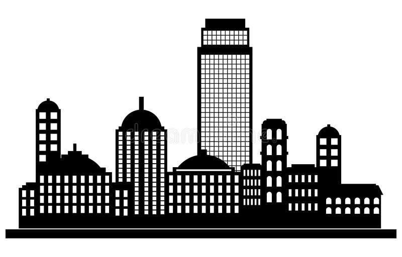 Silhouette de panorama de ville illustration de vecteur