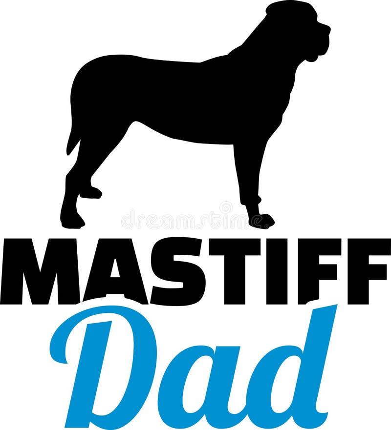 Silhouette de papa de mastiff illustration de vecteur