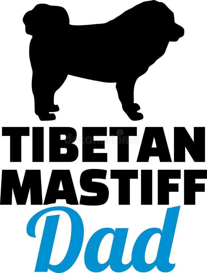 Silhouette de papa de mastiff tibétain illustration de vecteur