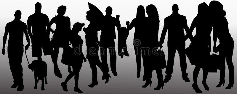 Silhouette de personnes de vecteur illustration de vecteur