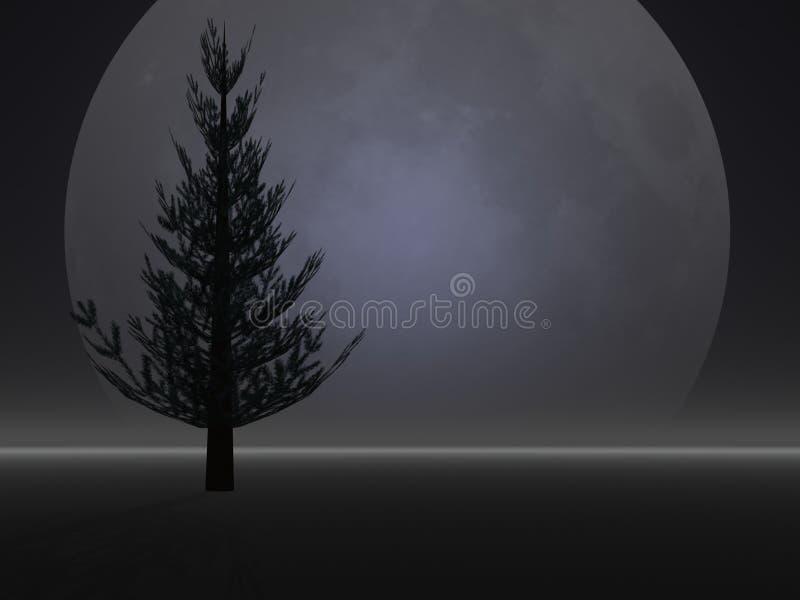 Silhouette de pin illustration libre de droits