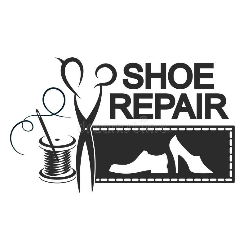 Silhouette de réparation de chaussure illustration de vecteur