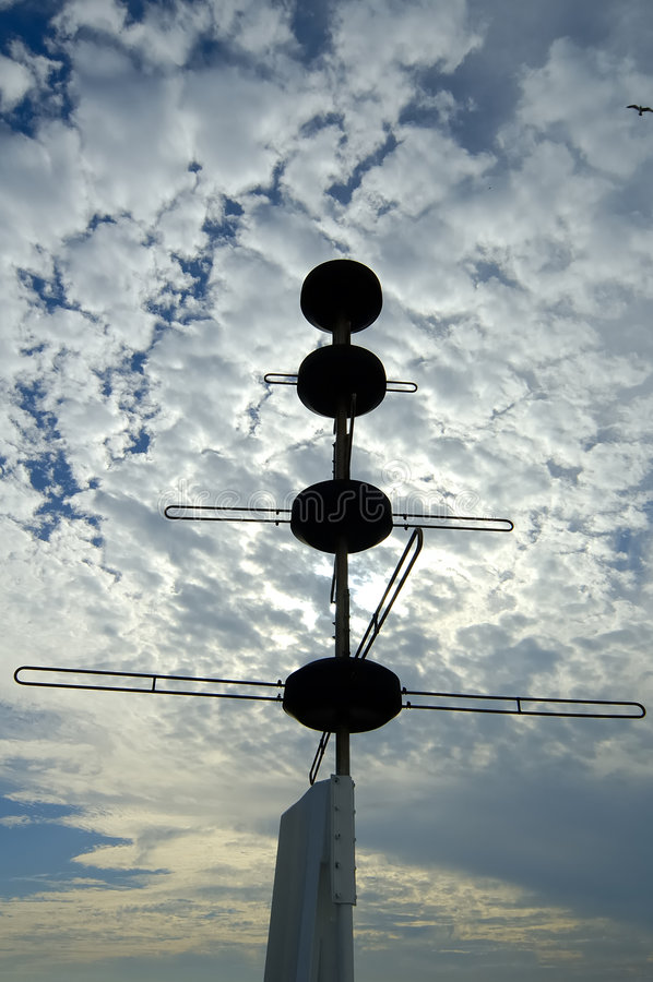 Silhouette de radar photo libre de droits