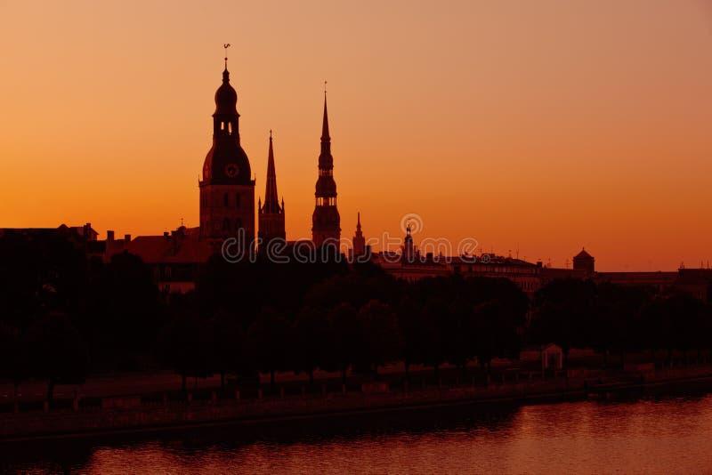 Silhouette de Riga, Lettonie photo libre de droits