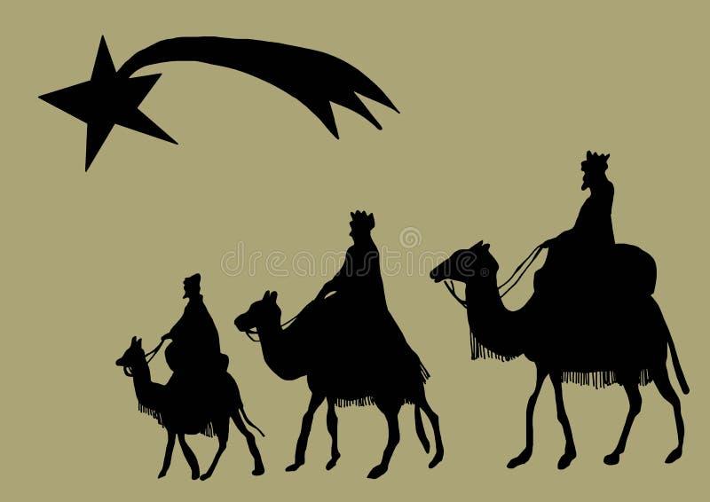 Silhouette de Rois mages illustration stock