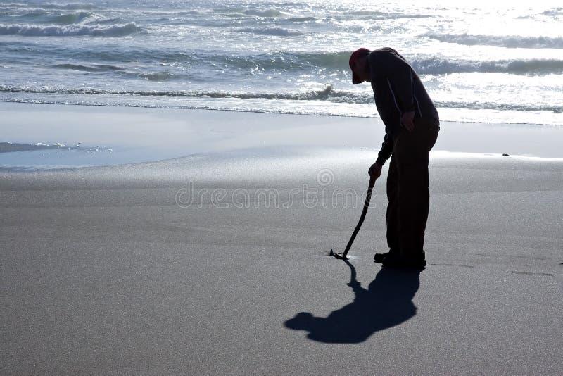 silhouette de sable de message photo libre de droits