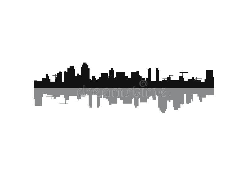 Silhouette de San Diego City illustration stock