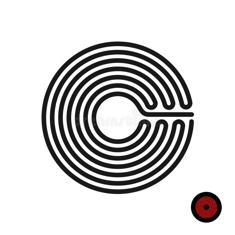 Silhouette de spirale d'anneau de fourneau de fraise-mère d'induction Fil de brûleur de la chaleur illustration stock