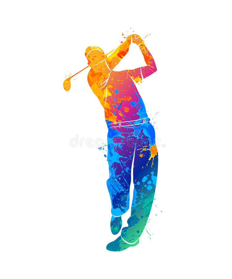 Silhouette de sport de golf photos stock