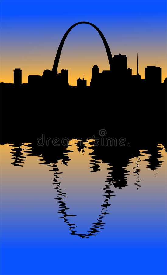 Silhouette de St Louis illustration de vecteur