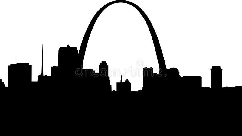 Silhouette de St Louis illustration stock