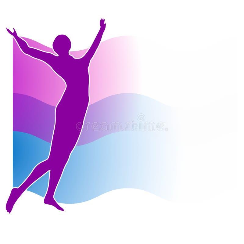Silhouette de Swoosh de forme physique de célébration illustration stock