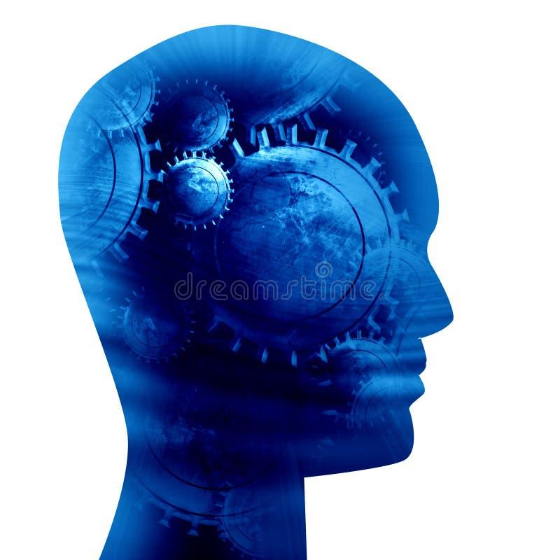 Silhouette de tête humaine illustration libre de droits