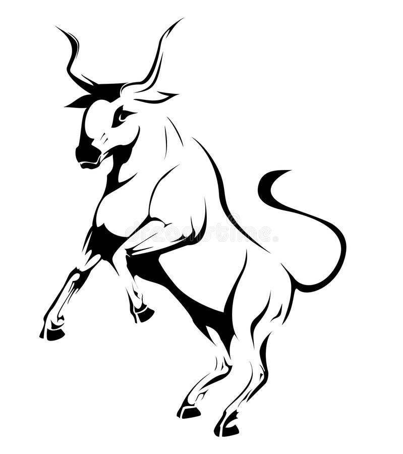 Silhouette de taureau illustration libre de droits
