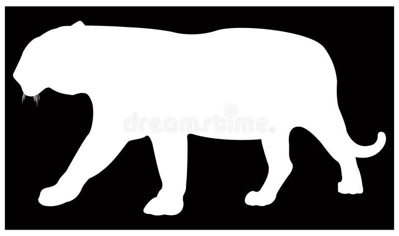 Silhouette de tigre - les plus grandes espèces de chat illustration libre de droits