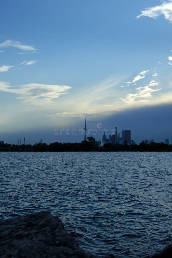 Silhouette de Toronto image libre de droits