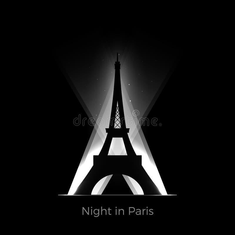 Silhouette de Tour Eiffel illustration libre de droits