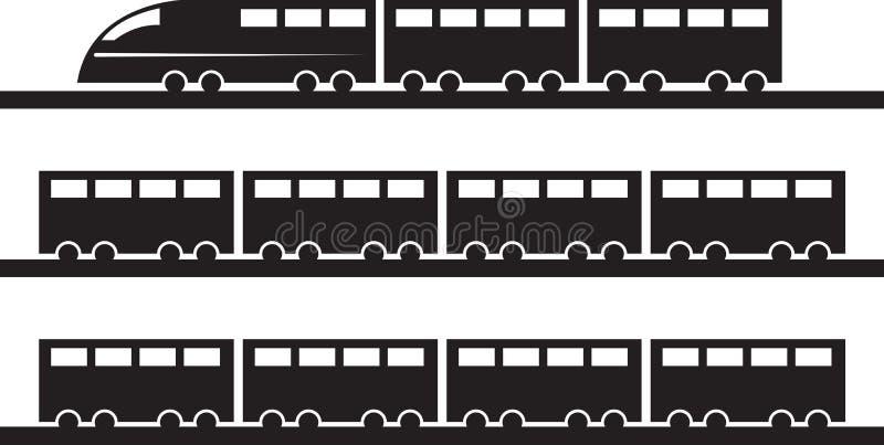 Silhouette de train illustration de vecteur