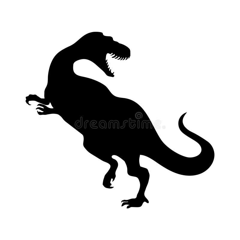 Silhouette de tyrannosaure illustration stock