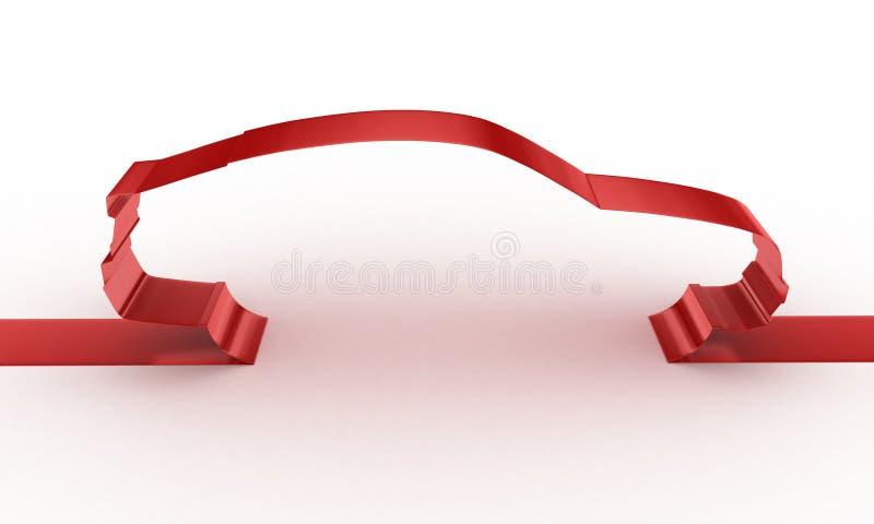 Silhouette de véhicule illustration libre de droits