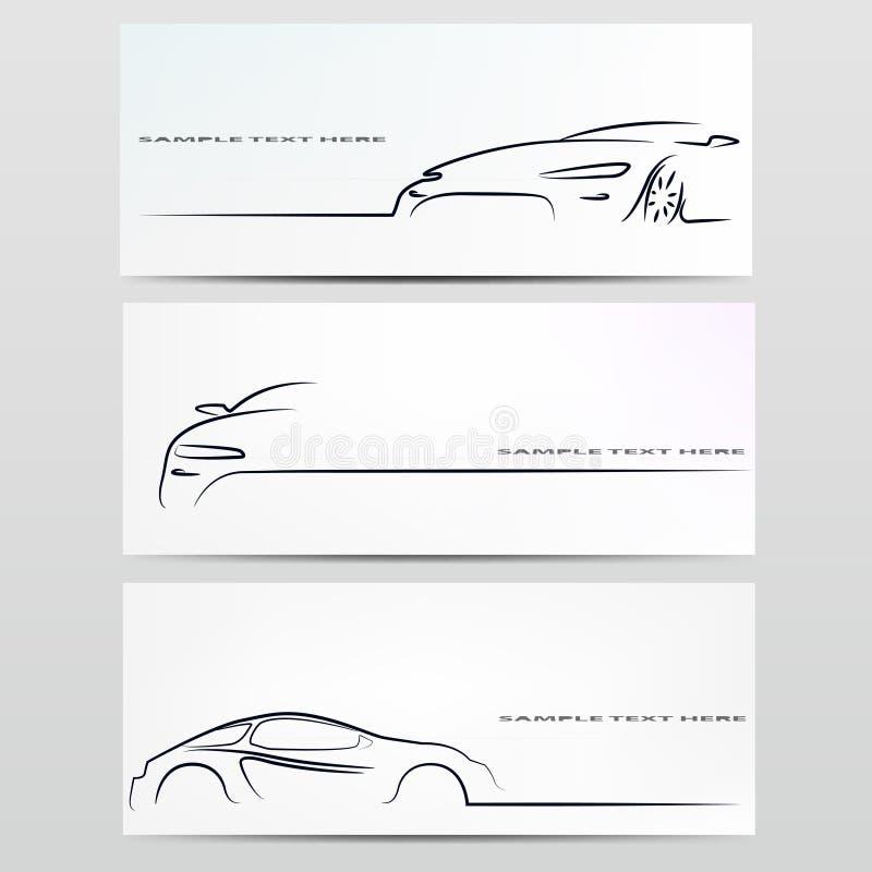 Silhouette de véhicule. illustration stock
