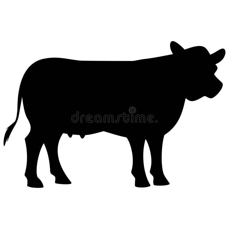 Silhouette de vache illustration stock