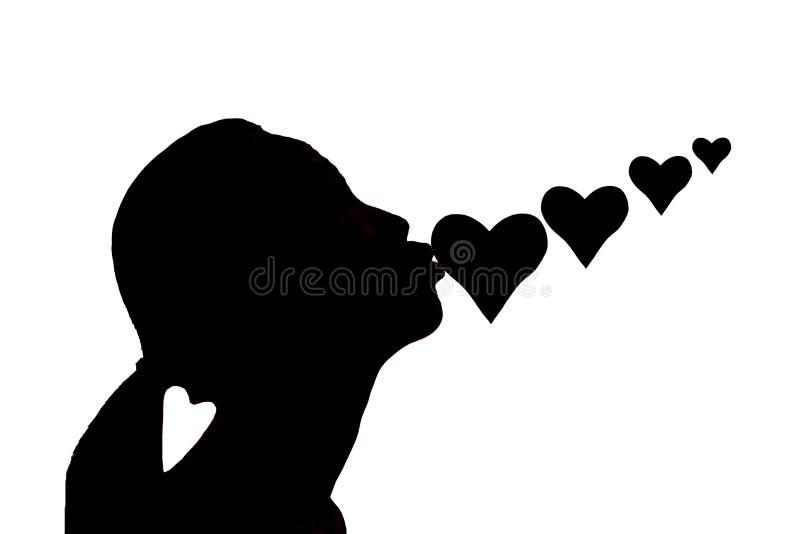 Silhouette de valentines. photos libres de droits