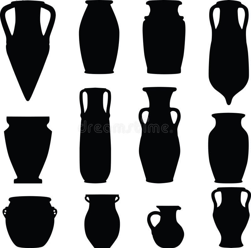 Silhouette de vase   illustration de vecteur