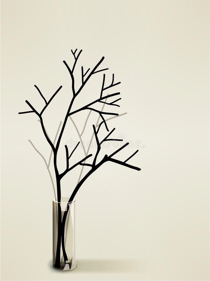 Silhouette de vase illustration libre de droits
