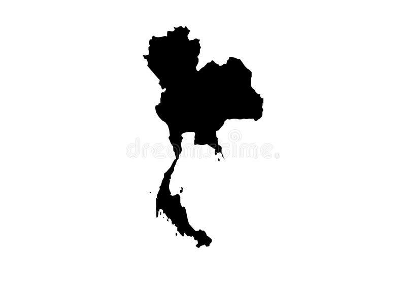 Silhouette de vecteur de carte d'état de Thailandia illustration de vecteur